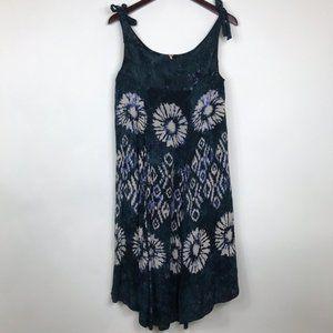 Free People Womens Size XS Dress Blue Midi Boho